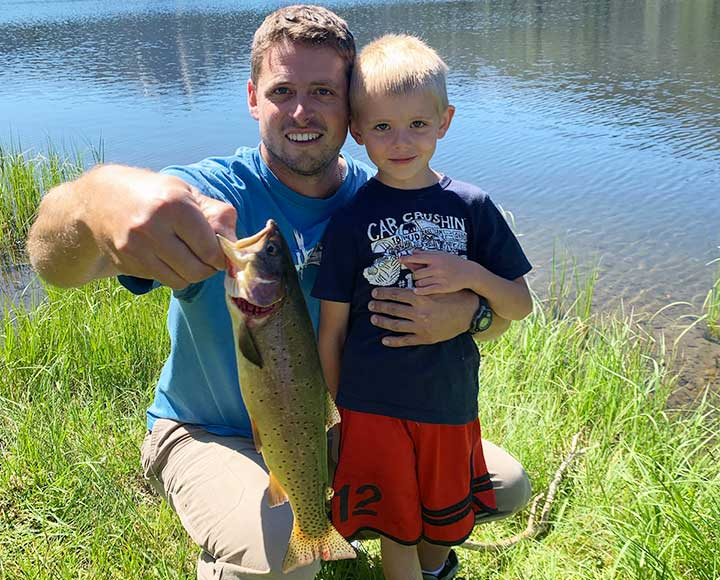 fishing for cutthroat trout in yellowston national park with kids