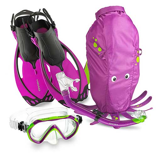 head kids mask and snorkel gear package