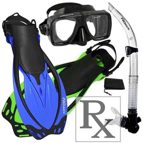 promate-prescription-lens-snorkel-gear-set