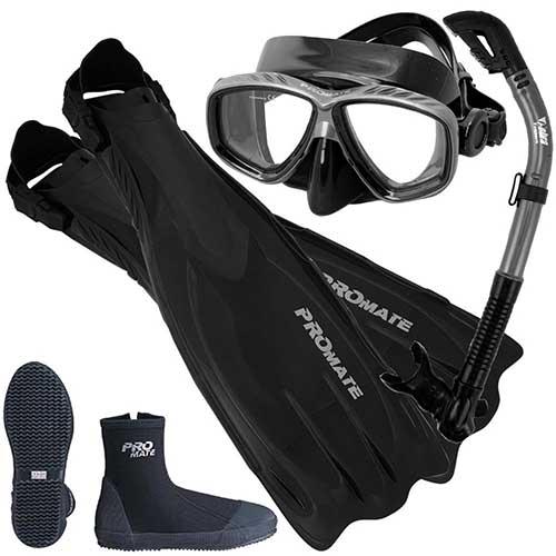 promate-scuba-gear-mask-fin-snorkel-gear-set