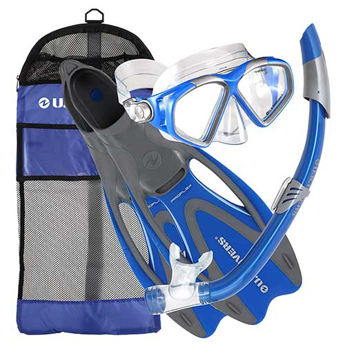 us divers cozumel adult snorkeling gear package