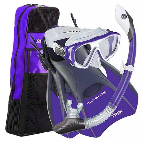 us-divers-women-snorkel-gear-set-with-trek-travel-fins