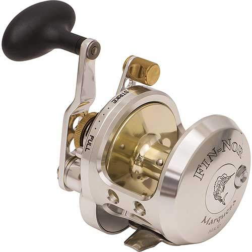 fin nor marquesa lever drag conventional fishing reel
