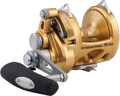 penn international visx 2-speed conventional fishing reel