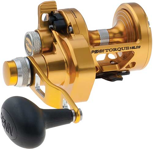 penn torque gold reel lever drag conventional bottom fishing reel