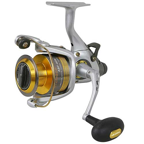 okuma avenger baitfeeder abf graphite surf fishing reel