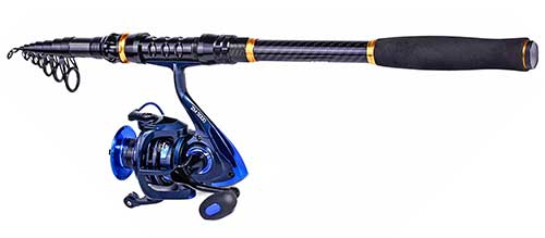 troutboy telescopic surf fishing rod and reel