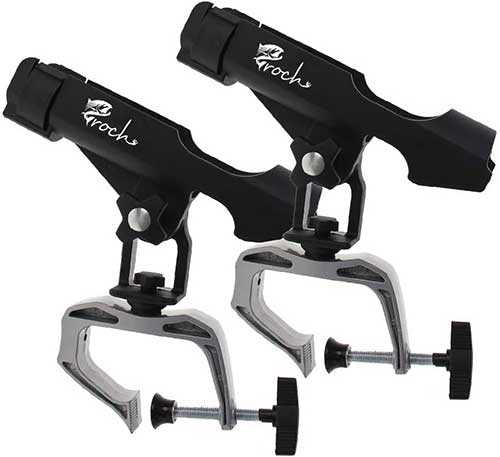 croch fishing rod holder with large c-clamps