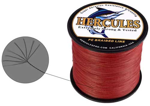 hercules 8-strand braided fishing line