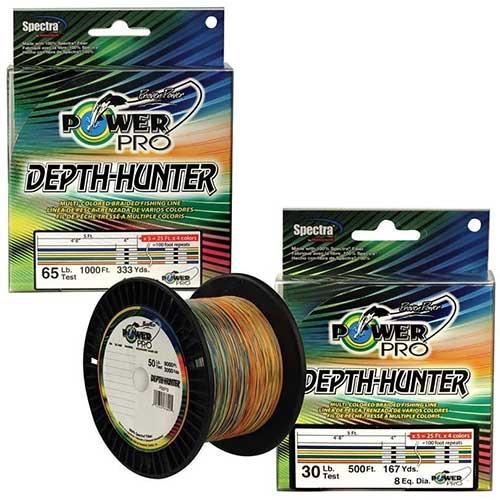 power pro depth hunter best braided metered fishing line