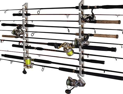 rush creek rod holder wall or ceiling rack