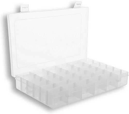 Clear Plastic Tackle Box with Dividers
