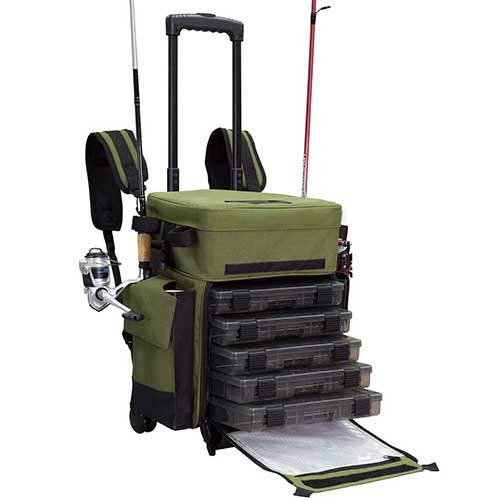 Elkton Outdoors Rolling Tackle Box