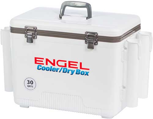 Engel Dry Box with Rod Holders