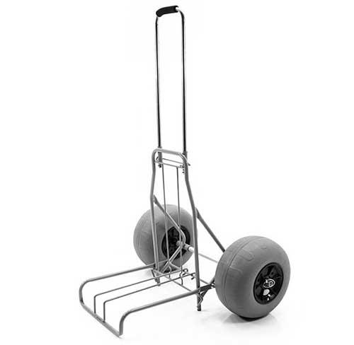 Dolly Style Folding Beach Cart with Balloon Wheels