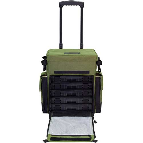 Elkton Outdoors Rolling Fishing Tackle Box
