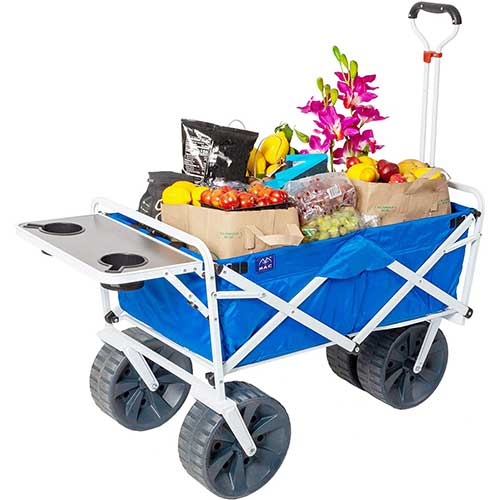 MacSports Collapsible Fishing Cart with Table