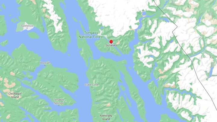 juneau alaska map
