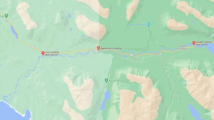 upper kenai river map